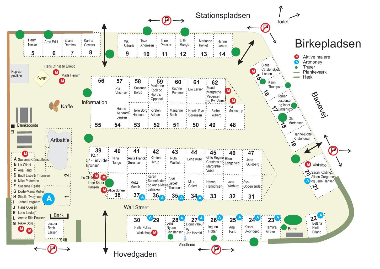 Birkepladsen - pladsplan 2013